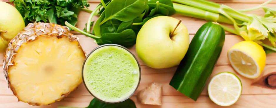 υγιεινά smoothies με πράσινα λαχανικά
